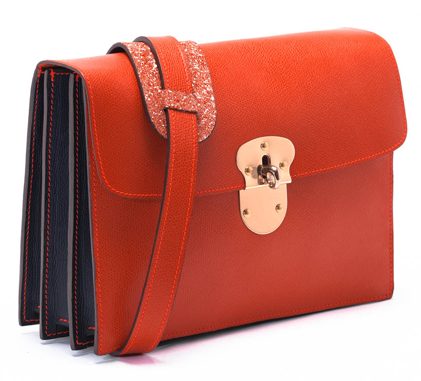 Maison Thomas - Porte-Moi Orange/Marine paillettes Orange