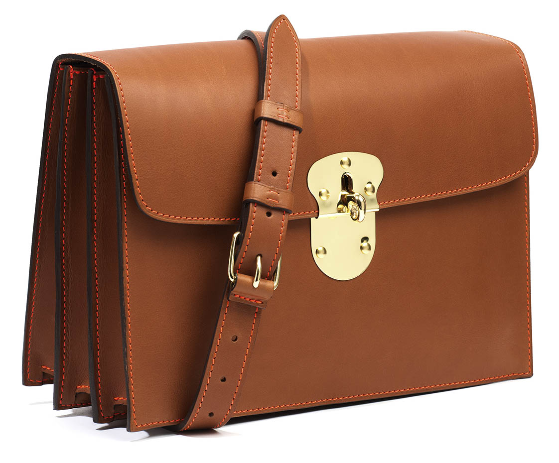 Maison Thomas - Porte-Moi Cognac fil Orange fluo